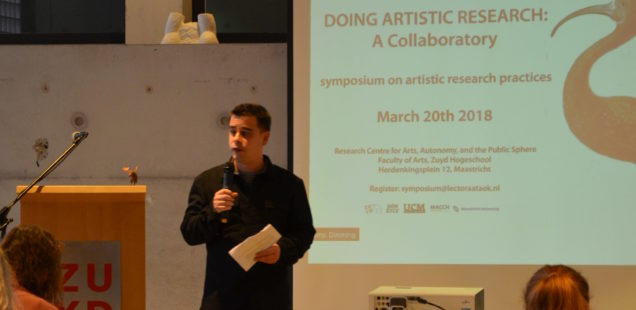 Exciting symposium on artistic research practices