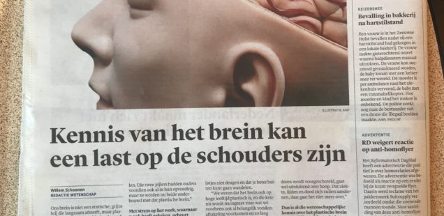 Interview over het plastische brein in Trouw