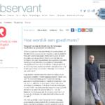 Interview door Observant