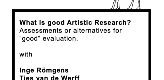 Upcoming Talk November 24: What is good artistic research?